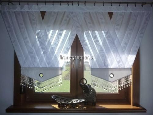 Firany Do Salonu Komplet Paneli V Z 13 Cm Koraliki Z Białego Walu